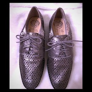 Vince Camuto pewter loafers